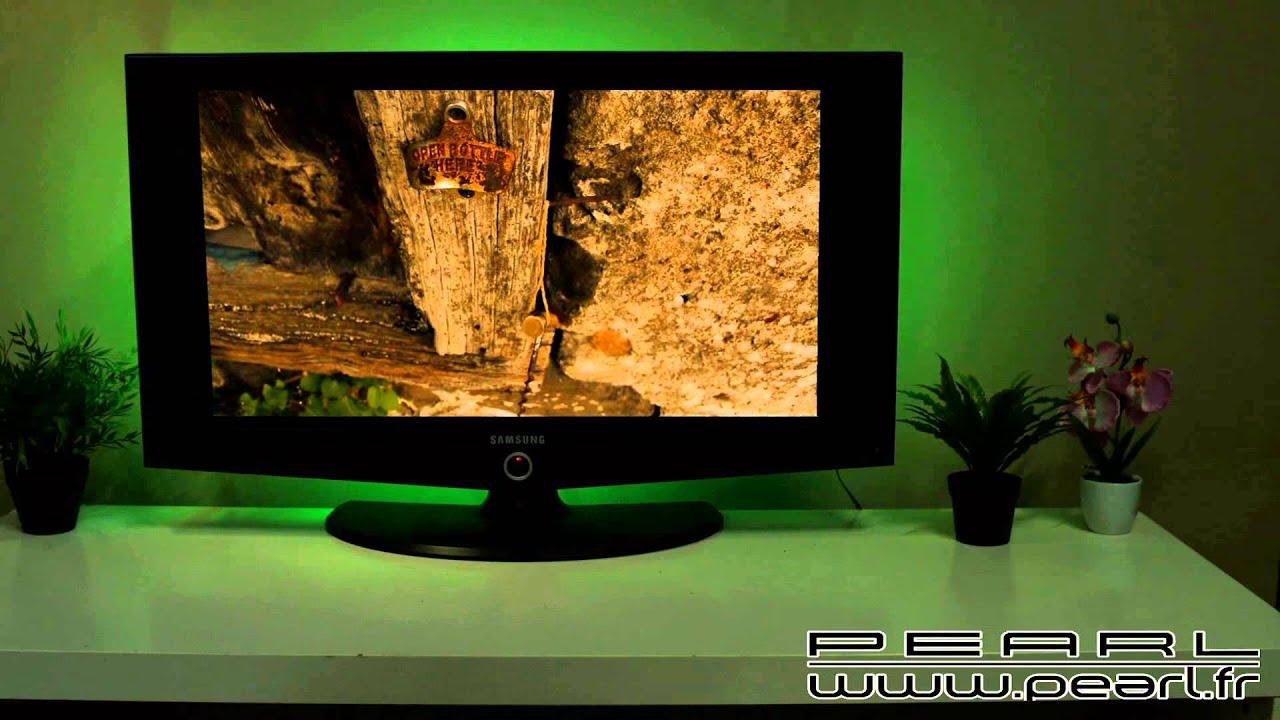 nx6560 kit de r tro clairage led pour tv rvb youtube. Black Bedroom Furniture Sets. Home Design Ideas