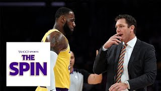 LeBron James makes Luke Walton's seat a little hotter | The Spin NBA