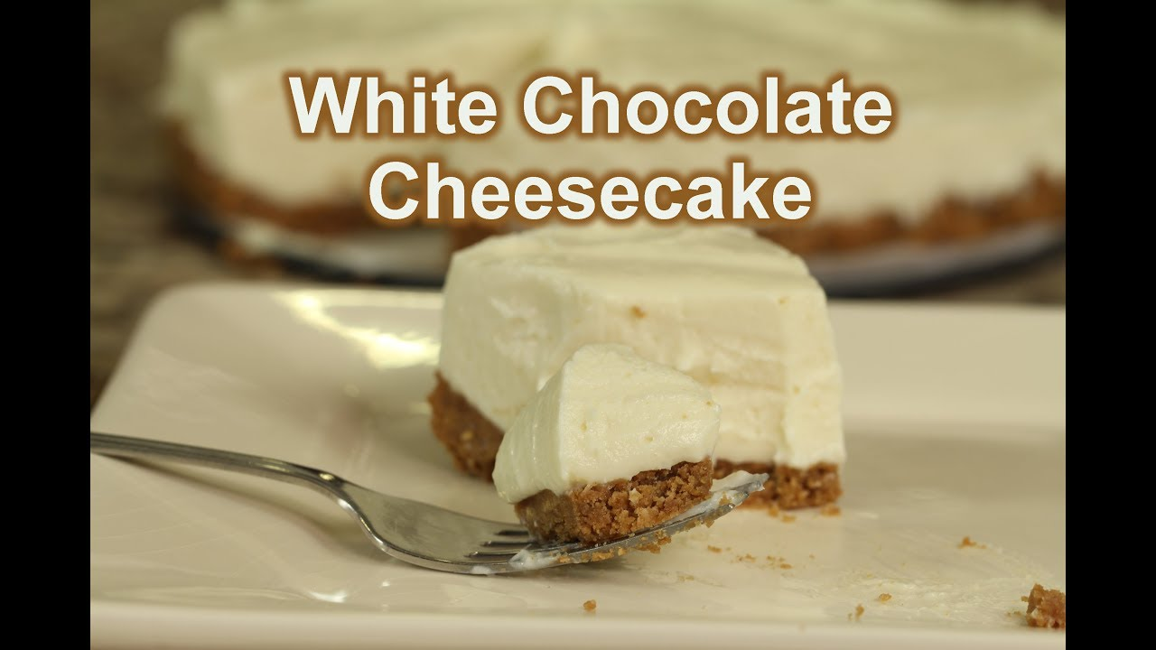 No Bake White Chocolate Cheesecake It S Gluten Free Rockin Robin Cooks Youtube