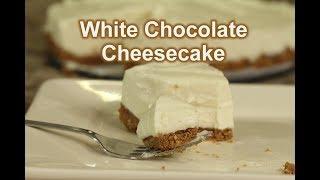 No Bake White Chocolate Cheesecake   It's Gluten Free   Rockin Robin Cooks