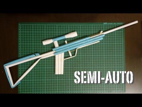 How to make a Paper Sniper Rifle Gun - Semi-Auto that shoot 6 shots.