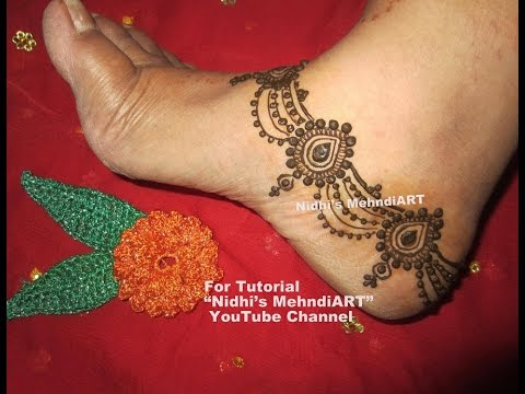 Mehndi For The Inspired Artist : Latest eid special bridal anklet feet ornament jewellery inspired