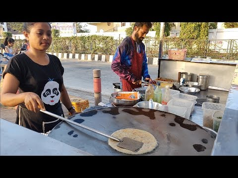 Indian Lady Selling Delicious Parathas in Surat | Indian Street Food
