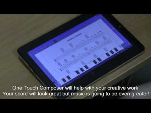 One Touch Composer - the music composition and notation software for tablet