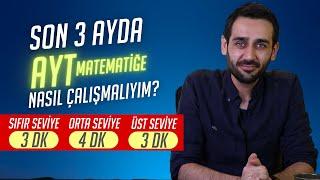 Son 3 Ayda AYT Matematiğe Nasıl Çalışmalıyım? |Sıfır- Orta- Üst Seviye| #YKS #PlanlamaKoçluğu