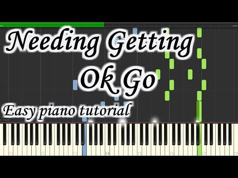 Needing Getting - Ok Go - Very easy and simple piano tutorial synthesia cover thumbnail