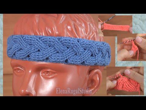 Вязание крючком повязки на голову Урок 302 Мастер-класс по аранскому вязанию крючком