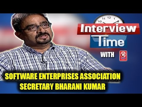 Interview Time With Hyderabad Software Enterprises Association Secretary Bharani Kumar | V6 News