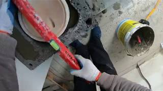 Obsadzanie skraplacza kominowego.