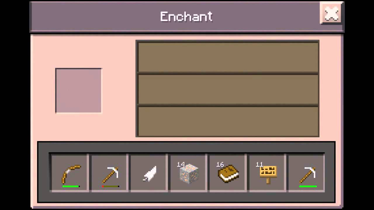 how to make a table in minecraft. Enchantment Table In Minecraft Pocket Edition You How To Make A