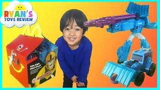 McDonald Indoor Playground for kids Happy Meal Surprise Toys Transformers Ryan ToysReview