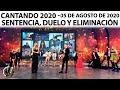 #CANTANDO2020 EN VIVO - Hoy: ¡Sentencia, duelo y eliminación!
