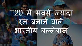 T20 में सबसे ज्यादा रन बनाने वाले भारतीय बल्लेबाज | Top 5 Indian Batsmen in T20 Cricket | Chotu Nai