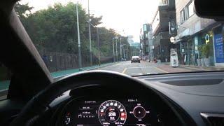 신형 아우디R8 타고 강남 삼성동 드라이브