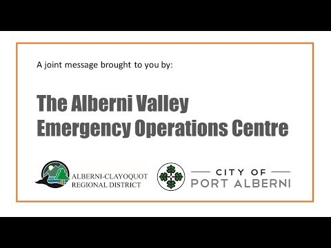 Joint Emergency Operations Centre Message on COVID-19 Response in the Alberni Valley