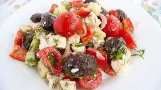 ГРЕЧЕСКИЙ САЛАТ приготовление в Греции ГРЕЦЬКИЙ САЛАТ рецепт приготований в Греції