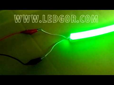 How to make the wire pin to light up the mini led neon flex 12V