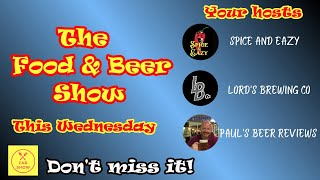 THE FOOD AND BEER SHOW | LIVE CHAT | VIRTUAL PUB | FOOD REVIEWS | BEER REVIEWS | FOOD CHALLENGES