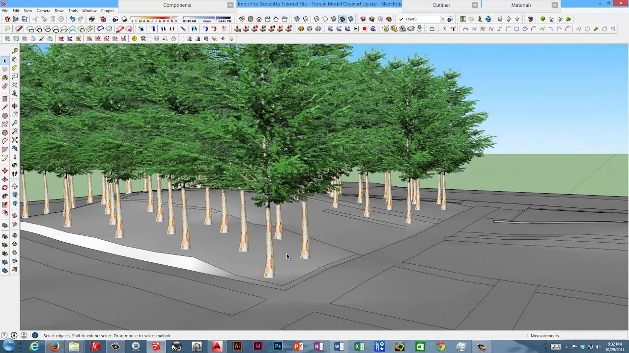 Importing acad tree and plant blocks into sketchup youtube for Sketchup import