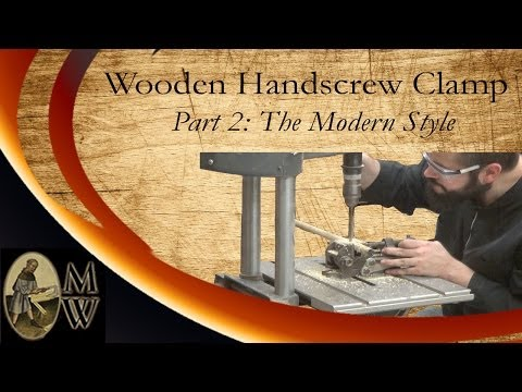 Build a Wooden Handscrew Clamp (Part 2) (MonkWerks)