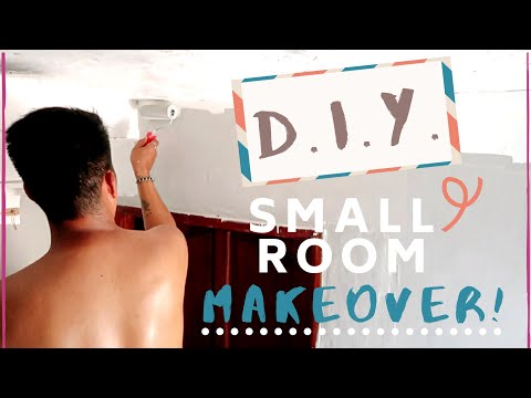 DIY LOFT BED W/ STAIRS | EXTREME SMALL ROOM MAKEOVER 2019| Part 1
