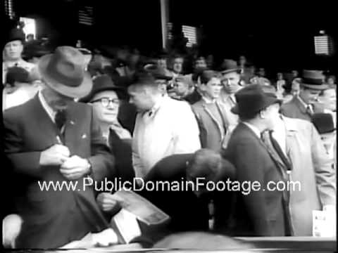 1961 Baseball Season Opens - JFK throws out first pitch at Senators game  PublicDomainFootage.com