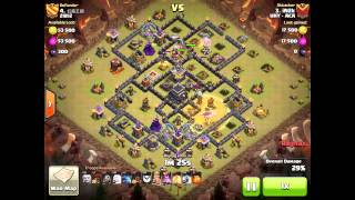 Clash Of Clans - 3 Stars Maxed TH9 - GiHeHo Attack