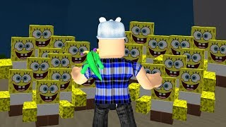 ROBLOX: TRY TO SURVIVE IN THE INVASION OF THE SPONGES BOB!! -Play Old man