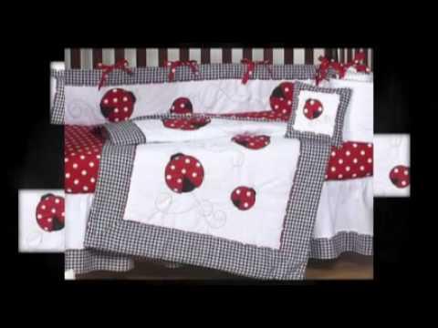 Ladybug Baby Crib Bedding