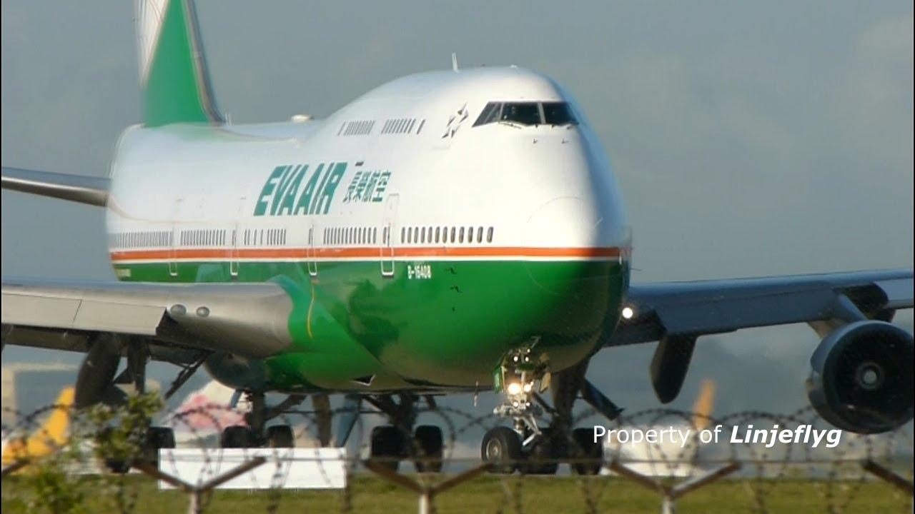 Get Air Victorville >> EVA AIR Boeing 747-400 B-16408@TPE - YouTube