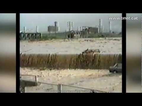 Desbordament del riu Francolí pel seu pas per Tarragona l'any 1994