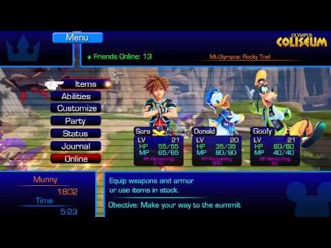 Kingdom Hearts 3 Game Menu CONCEPT!
