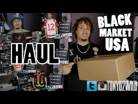 Unboxing Clothing Haul from Black Market USA