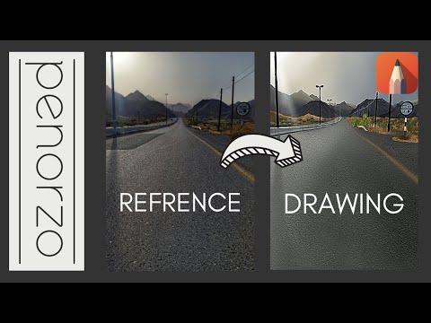 Digital Landscape Speed painting   Autodesk Sketchbook