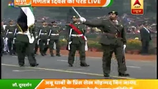 UAE contingent march down Rajpath on Republic Day, 2017