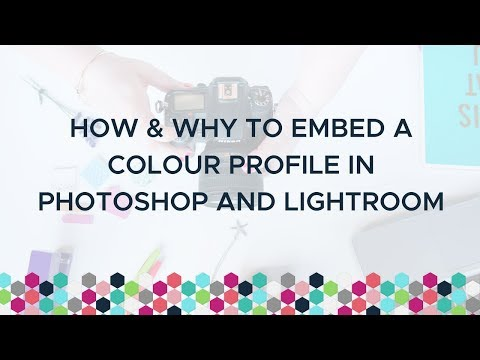 How & Why To Embed A Colour Profile In Photoshop And Lightroom