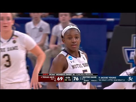 Notre Dame Vs. Texas A&M 2019 Sweet Sixteen Full Game Replay (NCAA Women's Basketball Tournament)