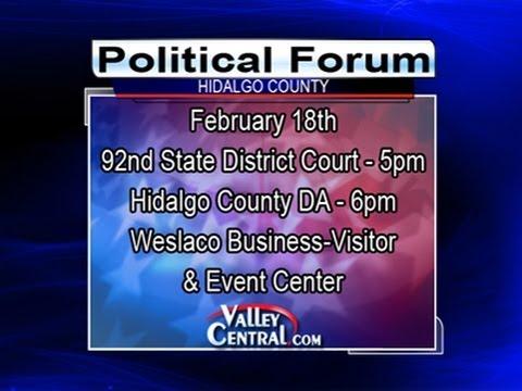 LIVE VIDEO: Hidalgo County District Attorney Political Forum