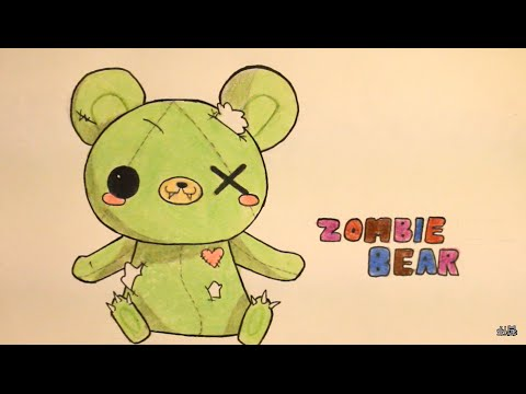 How To Draw Zombie Bear For Valentine Stuff Or Halloween Stuff Youtube