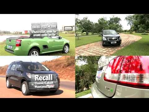 Chevrolet convoca recall do Classic, Cobalt e Montana