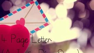4 Page Letter ; Chapter Five - Part Two