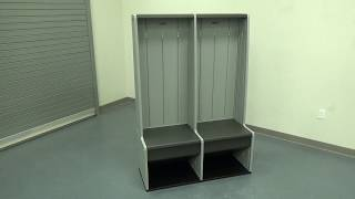 Vertical Storage Locker Assembly