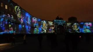 световое шоу на Дворцовой площади Санкт-Петербурга 2016-2017