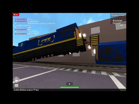 Filmer765's Games ROBLOX- CSX Train with slow gates - YouTube