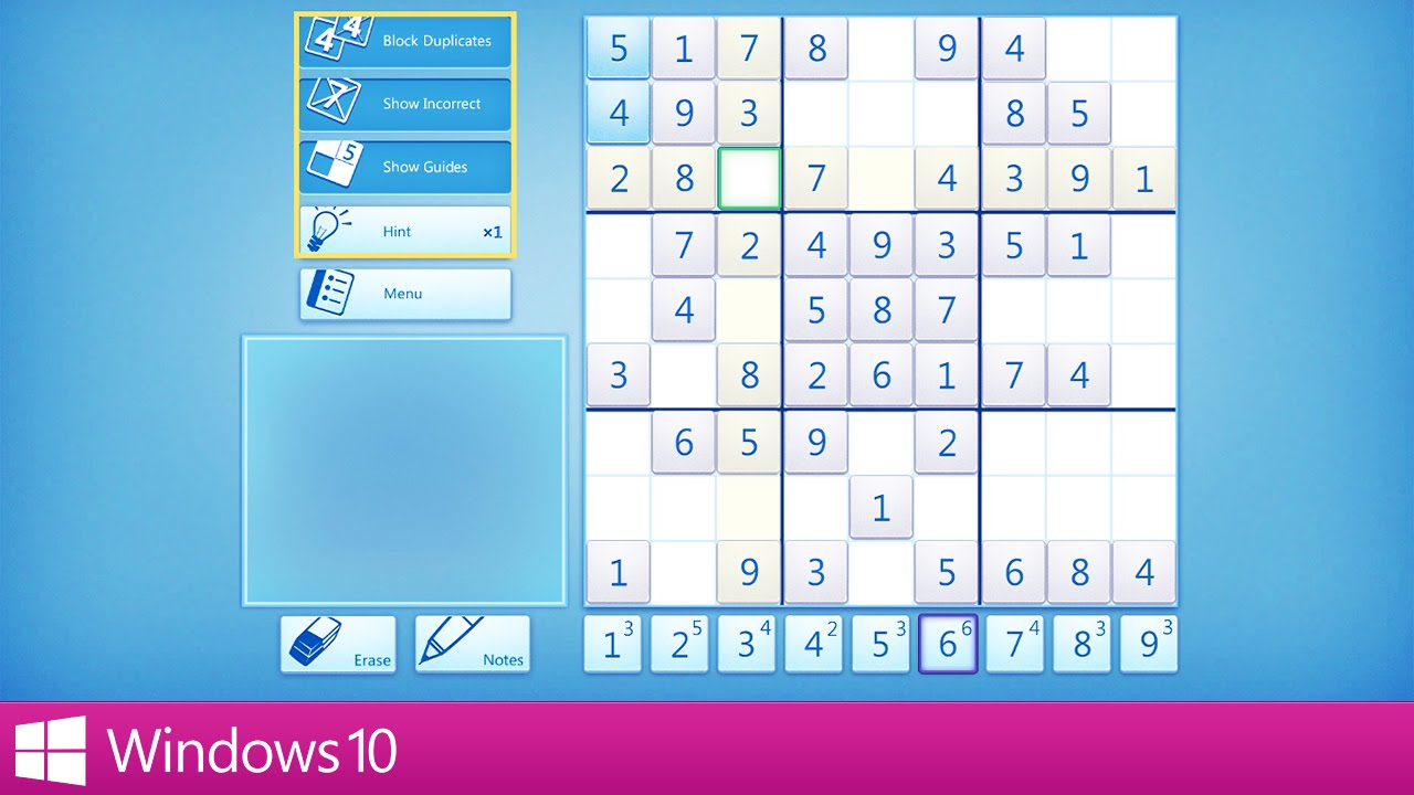 microsoft sudoku windows 10 game youtube