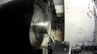 Точение радиуса ст.08Х18Н10Т(Turning radius on stainless steel)(Точение радиуса рым-болта Ф70 R35., 2016-05-25T18:34:26.000Z)