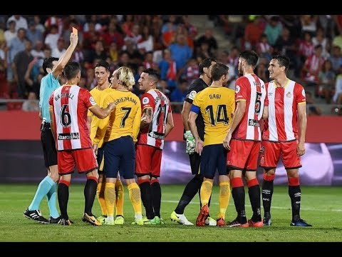 Revealed What Antoine Griezmann Said To Referee That Saw Him Sent Off Against Girona For Dissent