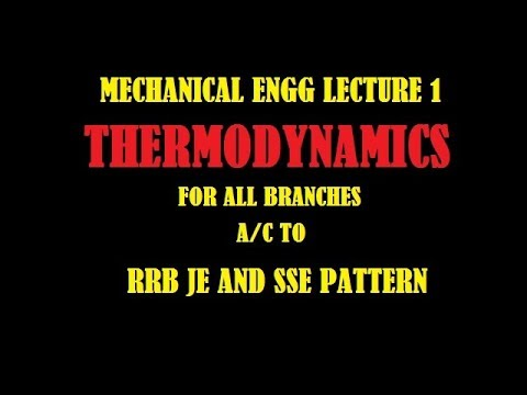 THERMODYNAMICS FOR RRB JE AND SSE