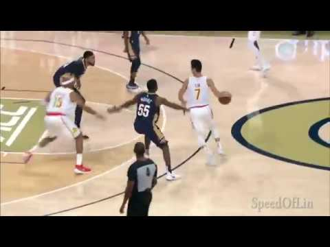 Jeremy Lin Preseason 10/1/18 Plays and Highlights - Pelicans at Hawks