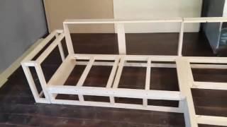 Мебель своими руками. Изготовление дивана. Часть 1 Каркас.(Суть видео - заказчик прислал фото дивана, размер комнаты и еще несколько условий. Мне понравился этот проек..., 2016-09-17T05:43:39.000Z)